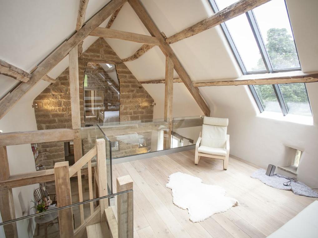 Exposed attic truss