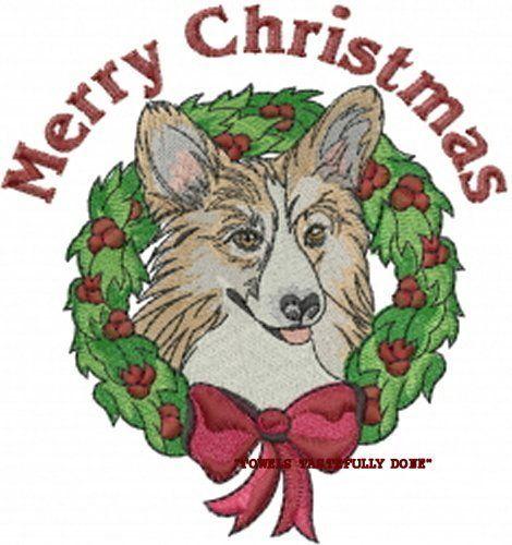 CHRISTMAS CORGI DOG WREATH - 2 EMBROIDERED HAND TOWELS by Susan                                  1                                                  CHRISTMAS CORGI DOG WREATH - 2 EMBROIDERED HAND TOWELS by Susan                                  1                                      CHRISTMAS CORGI DOG WREATH - 2 EMBROIDERED HAND TOWELS by Susan                                  1