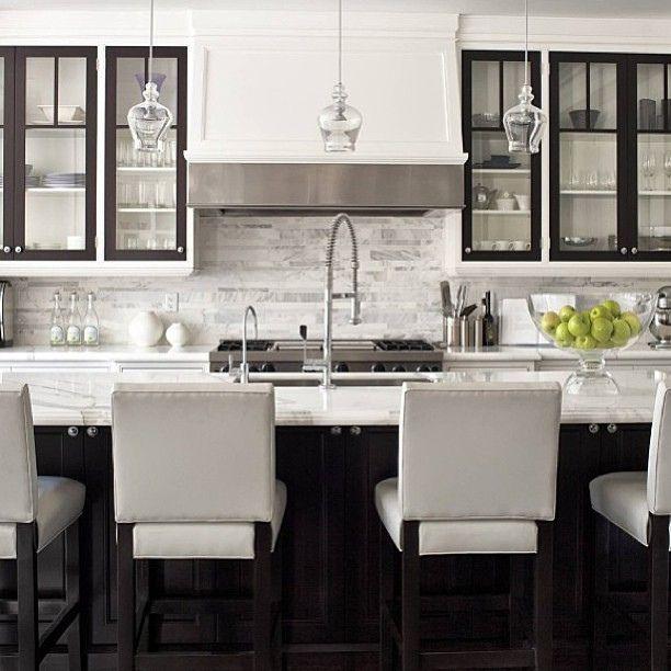 Sleek White Kitchen Design White Kitchen Marble Glass