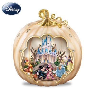 Disney Halloween Pumpkin Centerpiece With Motion And Lights at Bradford Exchange