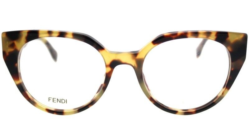 8db14172540 Fendi Fendi Facets FF 0160 00F Tortoise Cat-Eye Plastic Eyeglasses ...