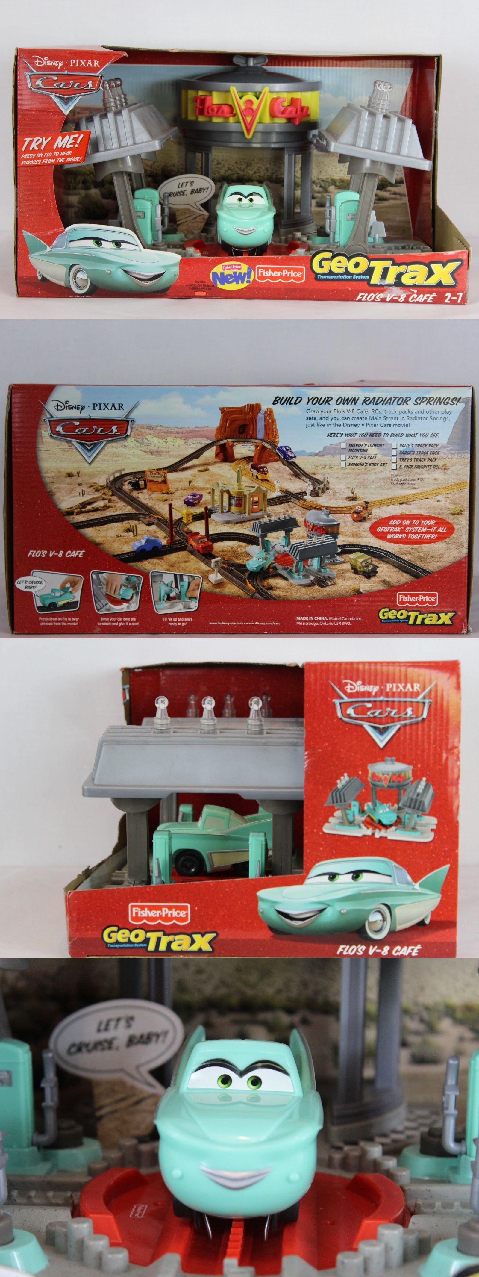 Geotrax 158742 disney pixar cars flo s v 8 cafe geotrax trains toy new