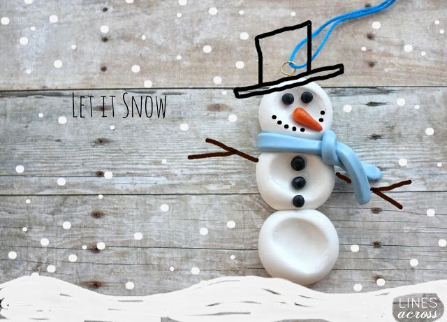Thumbprint snowmen --> I'm sooooo making these with the kids this year! I've got a thing for snowmen.