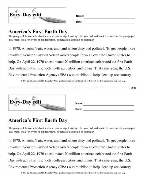 Education World Every Day Edit America S First Earth Day First