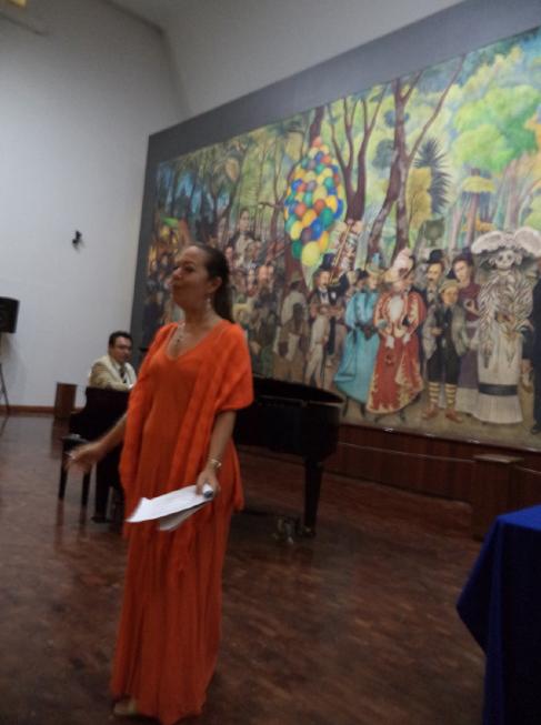 Copo de Algodón: Flor y canto para Copo de Algodón en el Museo Mural Diego Rivera