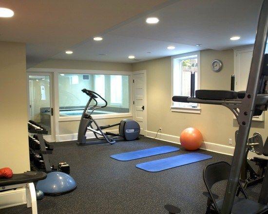 espace pour tapis d 39 entrainement sous sol home gym design home gym flooring et basement gym