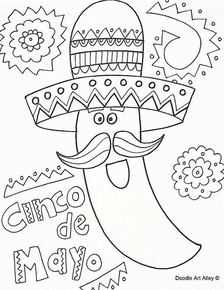 11 Places To Find Free Cinco De Mayo Coloring Pages Coloring Pages Cinco De Mayo Colors Coloring Pages For Kids