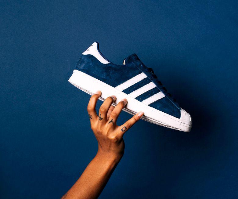 adidas superstar bleu suede