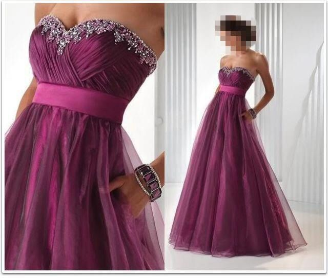 Heart shaped neckline for a perfect dress