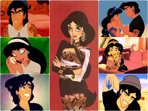 Punk Disney Princesses   punk disney princess punk jasmine i love Aladdin