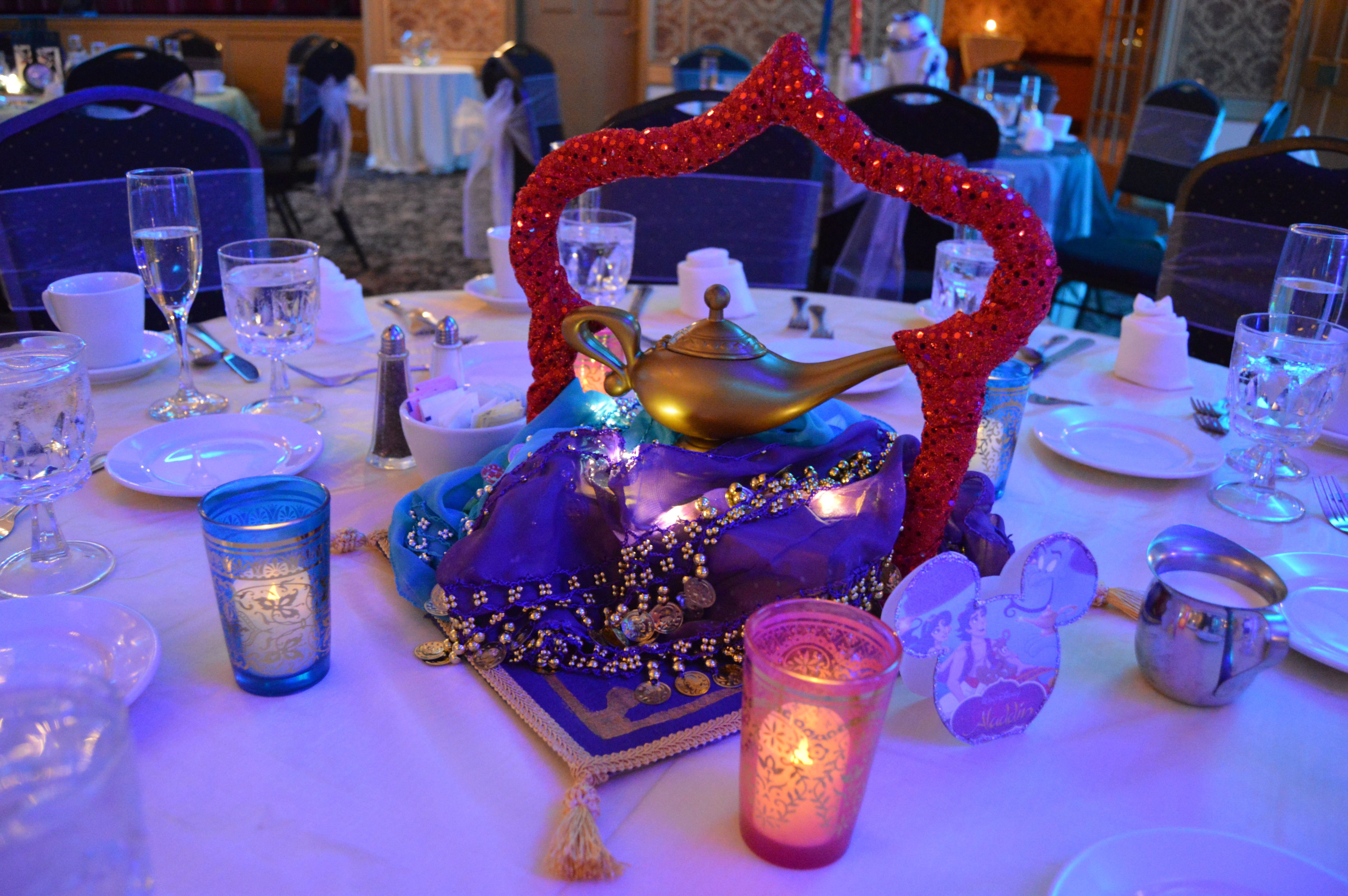 Disney Inspired Aladdin Centerpiece Designing Memories