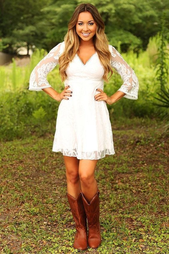 dress that goes with cowboy boots