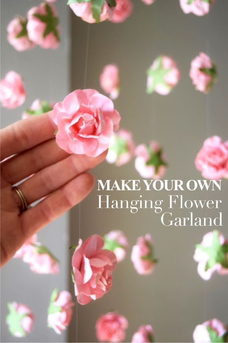 SAVE 50% DIY Hanging Flower Garland | Wedding Flower Backdrop #garlandofflowers