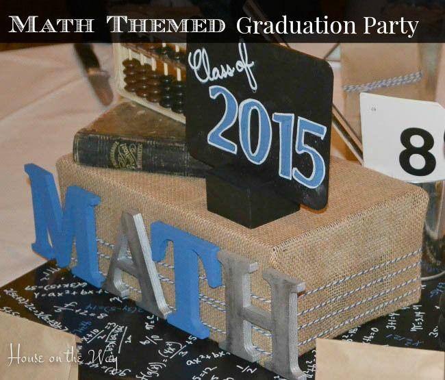 Math Themed Graduation Party | DIY Home Decor Ideas | Party