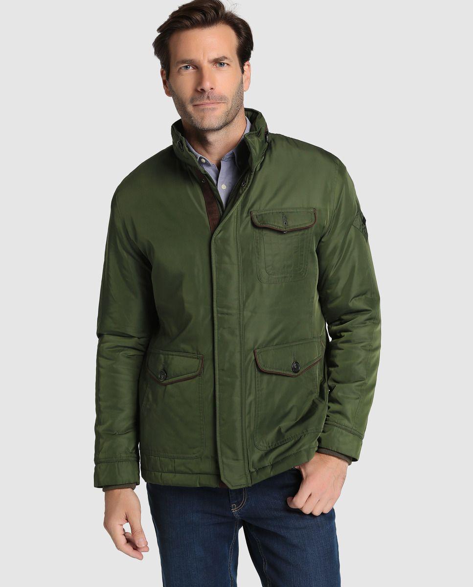 ac39ea3cd0b5c Parka de hombre Emidio Tucci verde con capucha extraíble