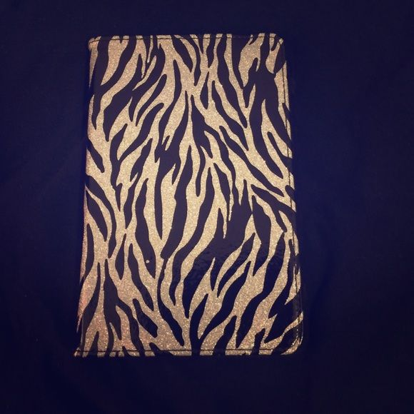 "Sparkle Zebra Print 8"" tablet case Gently used glitter zebra print 8"" tablet case. Case folds to stand upright. Generic  Accessories Tablet Cases"
