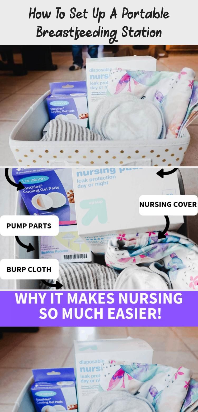 How To Set Up A Portable Breastfeeding Station in 2020