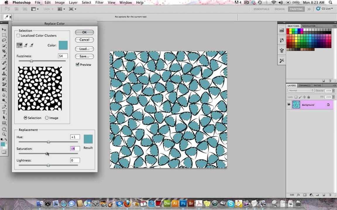 COLOR CHANGES IN PS FOR SPOONFLOWER A quick tutorial showing you how to change color in Photoshop using hex codes from the Spoonflower Color Guide. This is useful if you're designing your own f...