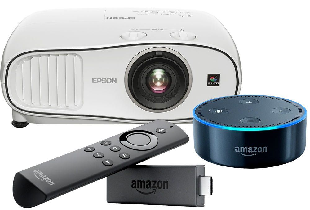 Epson - Home Cinema 3700 1080p 3LCD Projector, Amazon Fire