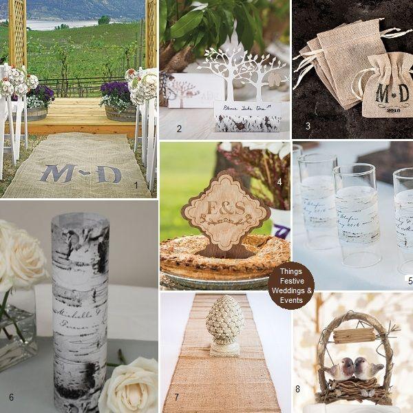 Beach Wedding Ideas On A Budget: Rustic Wedding Decorations: Burlap, Birch, Birds & Trees
