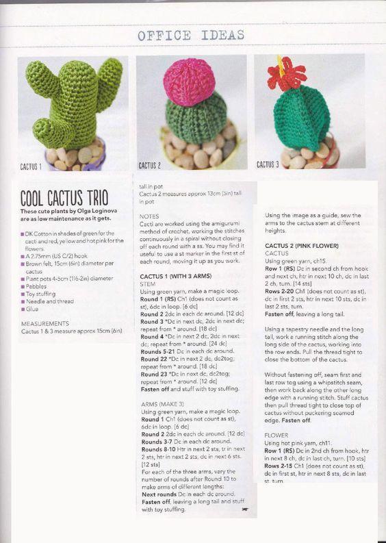 Crochet Cactus Pattern | Ganchillo