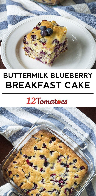 Buttermilk Blueberry Breakfast Bake #buttermilkblueberrybreakfastcake