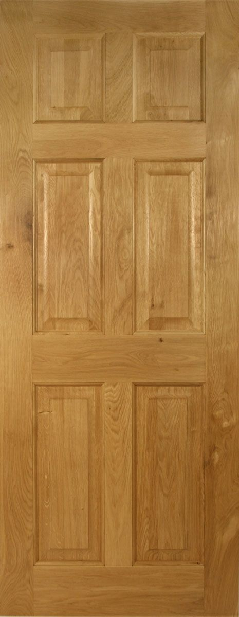 Awesome Victorian 4 Flat Panel Solid Oak Door