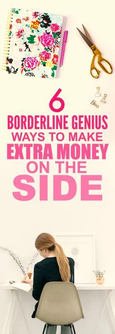 These 6 easy ways to make extra money on the side are THE BEST! I'm so happy I found this AMAZING post! I've already tried one of them and I'm already making A TON of money each month! I'm SO pinning for later!