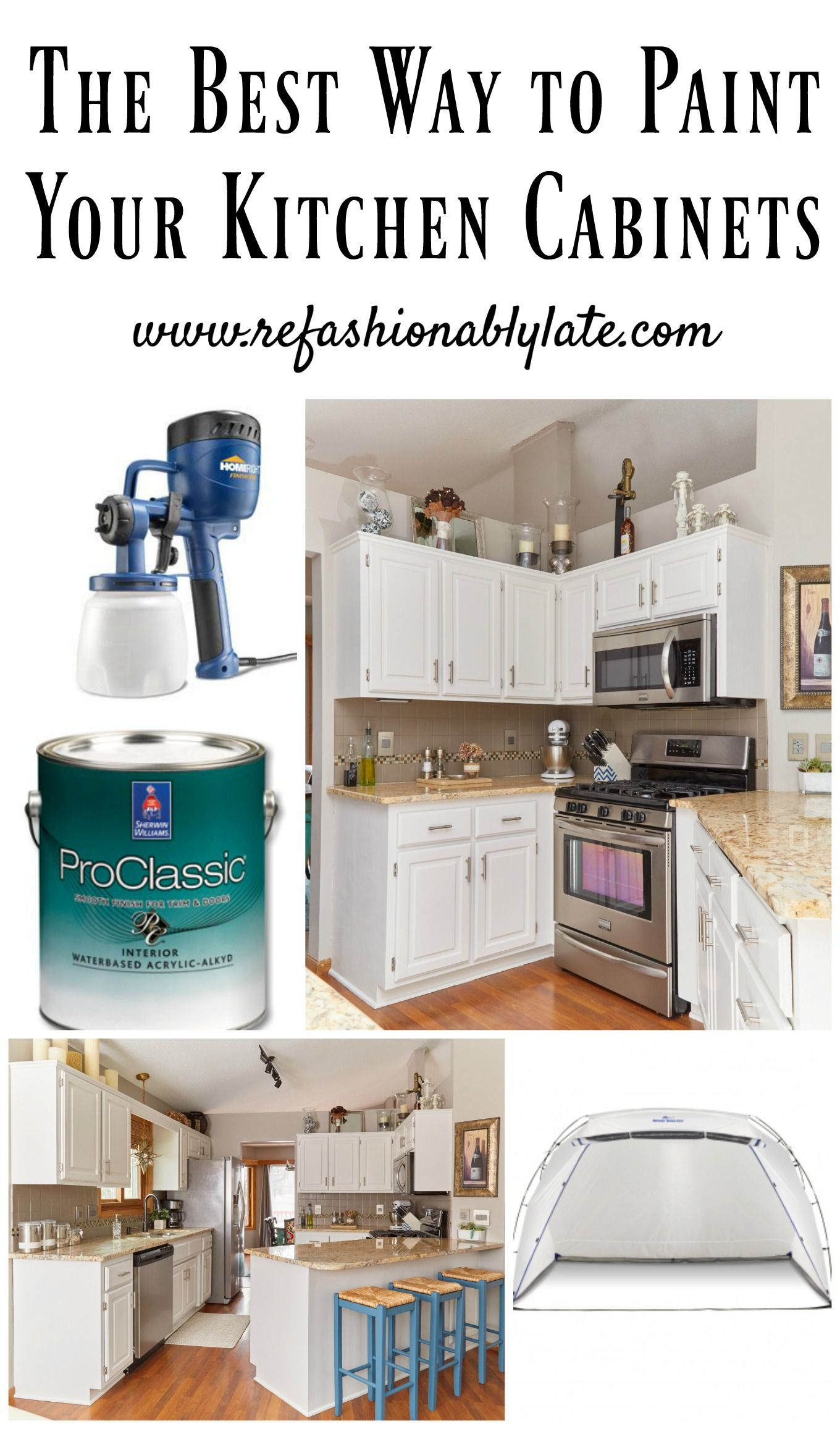 The Best Way to Paint Your Kitchen Cabinets www.refashionablylate.com