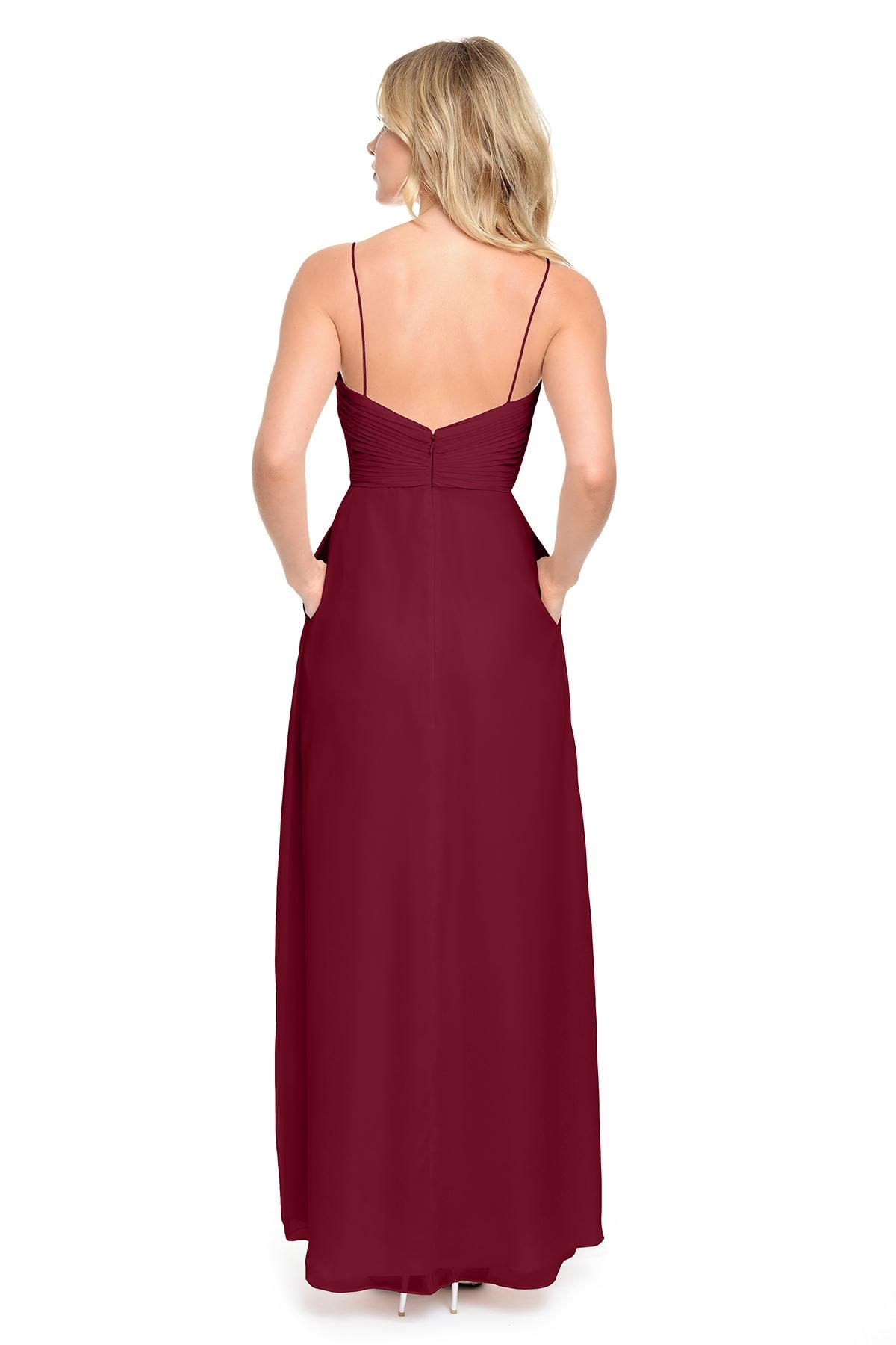 Long wedding guest dresses  Cheap  WineBlueBurgundy Bridesmaid Dresses Long Pleated