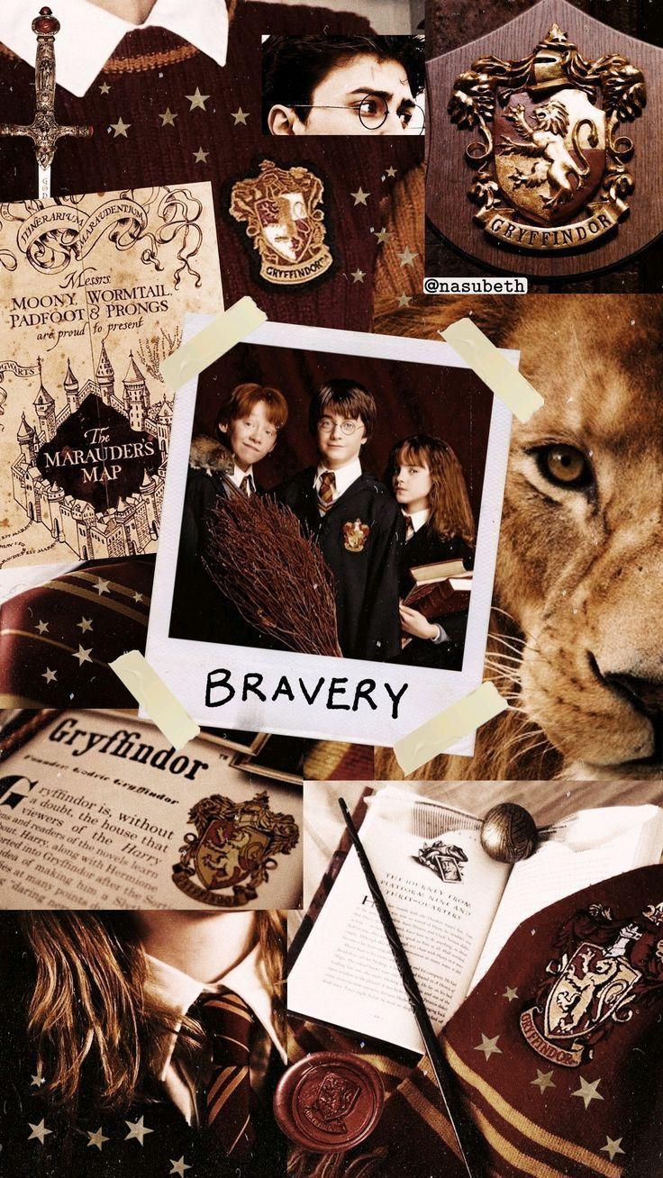 Gryffindor Wallpaper Aesthetic Aesthetic Gryffindor Tapete Harry Potter Fanlari Harry Potter Filmleri Harry Potter Sanati