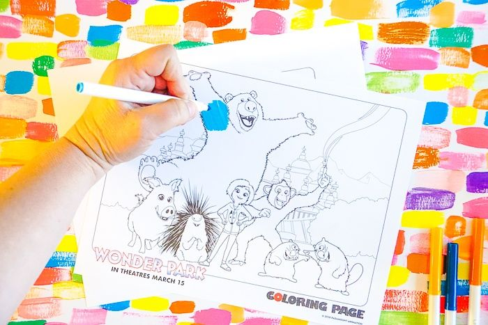 Wonder Park Movie Coloring Pages and Activities Fun easy