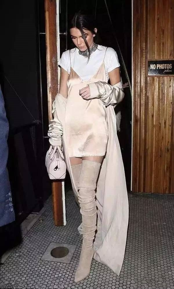 Women's Fashion: Tshirt, Suspender Dress & Over Knee Boots