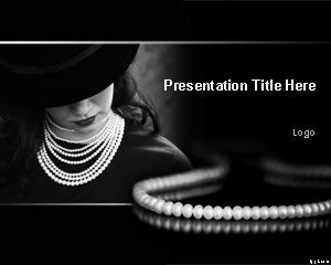 pearl necklace powerpoint template is a jewelry powerpoint, Presentation templates