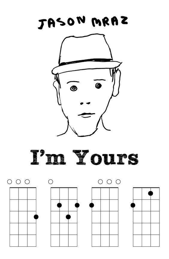 Im Yours By Jason Mraz Ukulele Chords Ukelele Pinterest