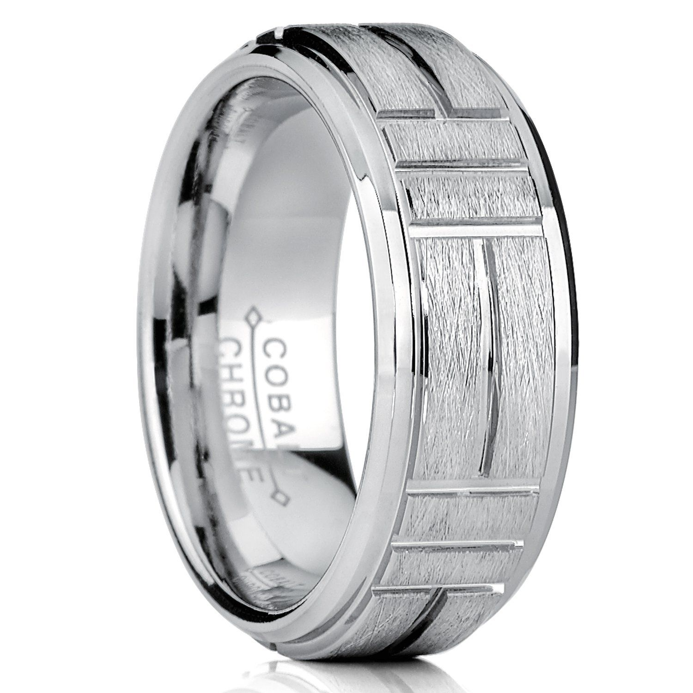 Ultimate Metals Co. Men's Cobalt Wedding Ring Band, Raised