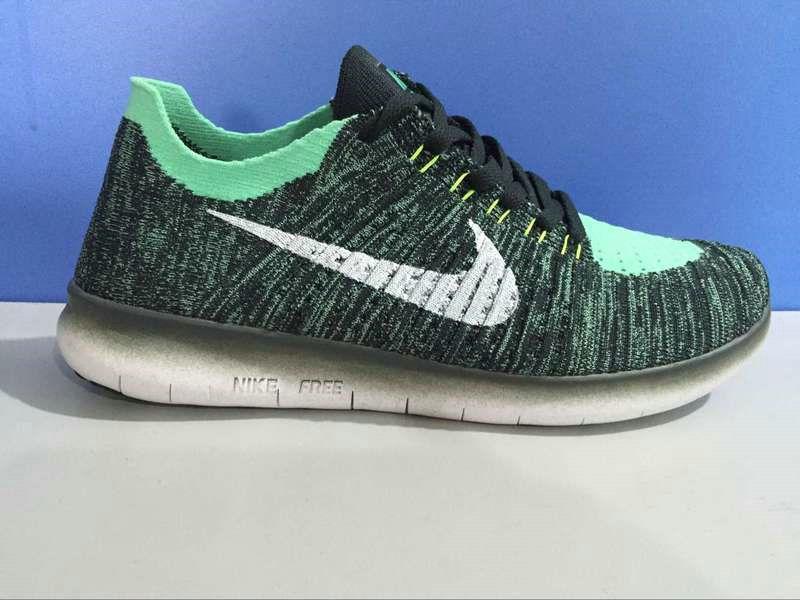0ed19ce389b74 Fashion 2018 Nike Free Rn Flyknit 2016 Dark Grey Green Mint 831069-014 Green  And