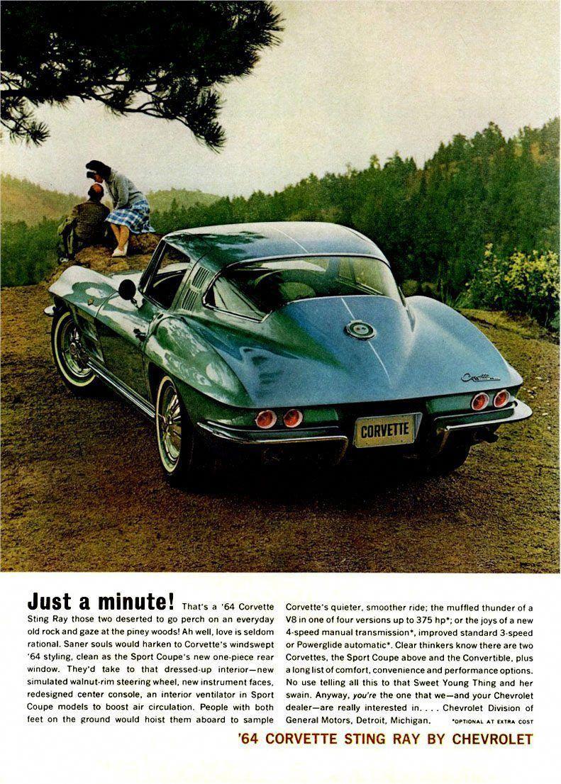 Vintage Look Reproduction 1965 Corvette Metal Sign