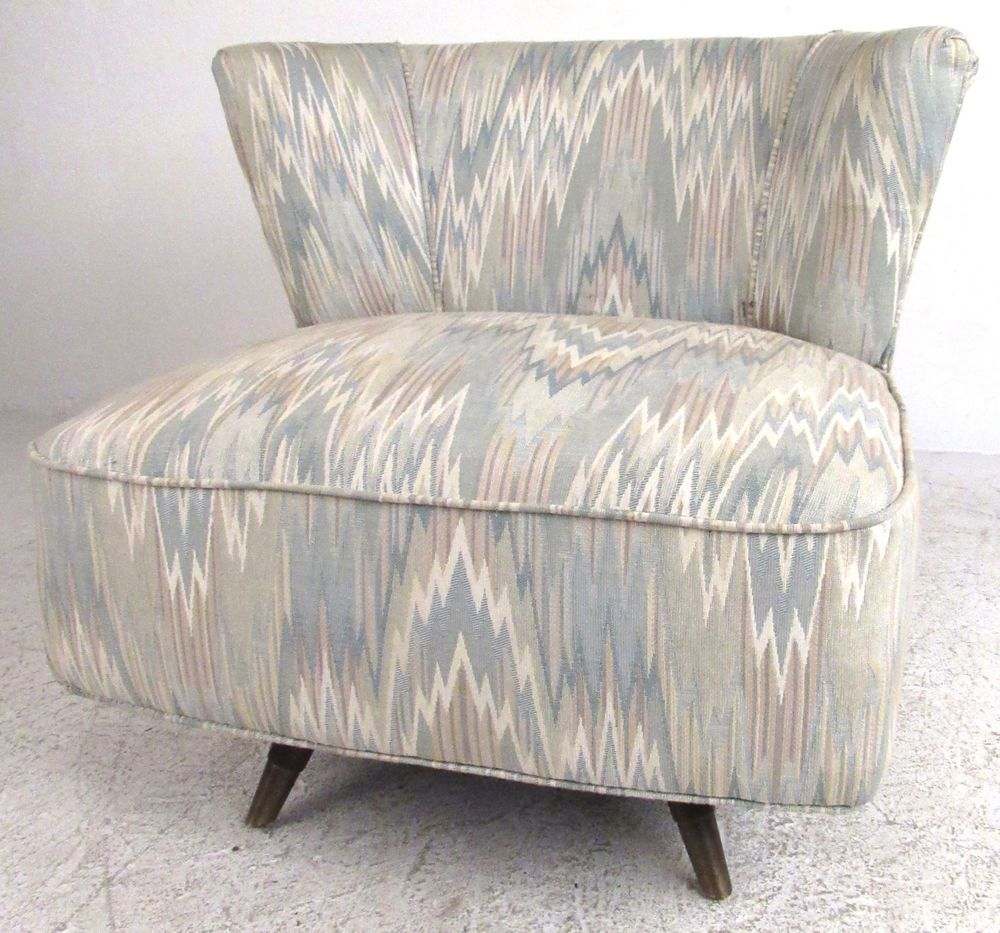 Delicieux Vintage Mid Century Modern Swivel Slipper Chair (8325)NJ