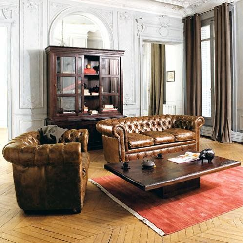 Canape Chesterfield 3 Places Cuir Marron Capitonne Vintage Canape Vintage Canape Chesterfield Chesterfield
