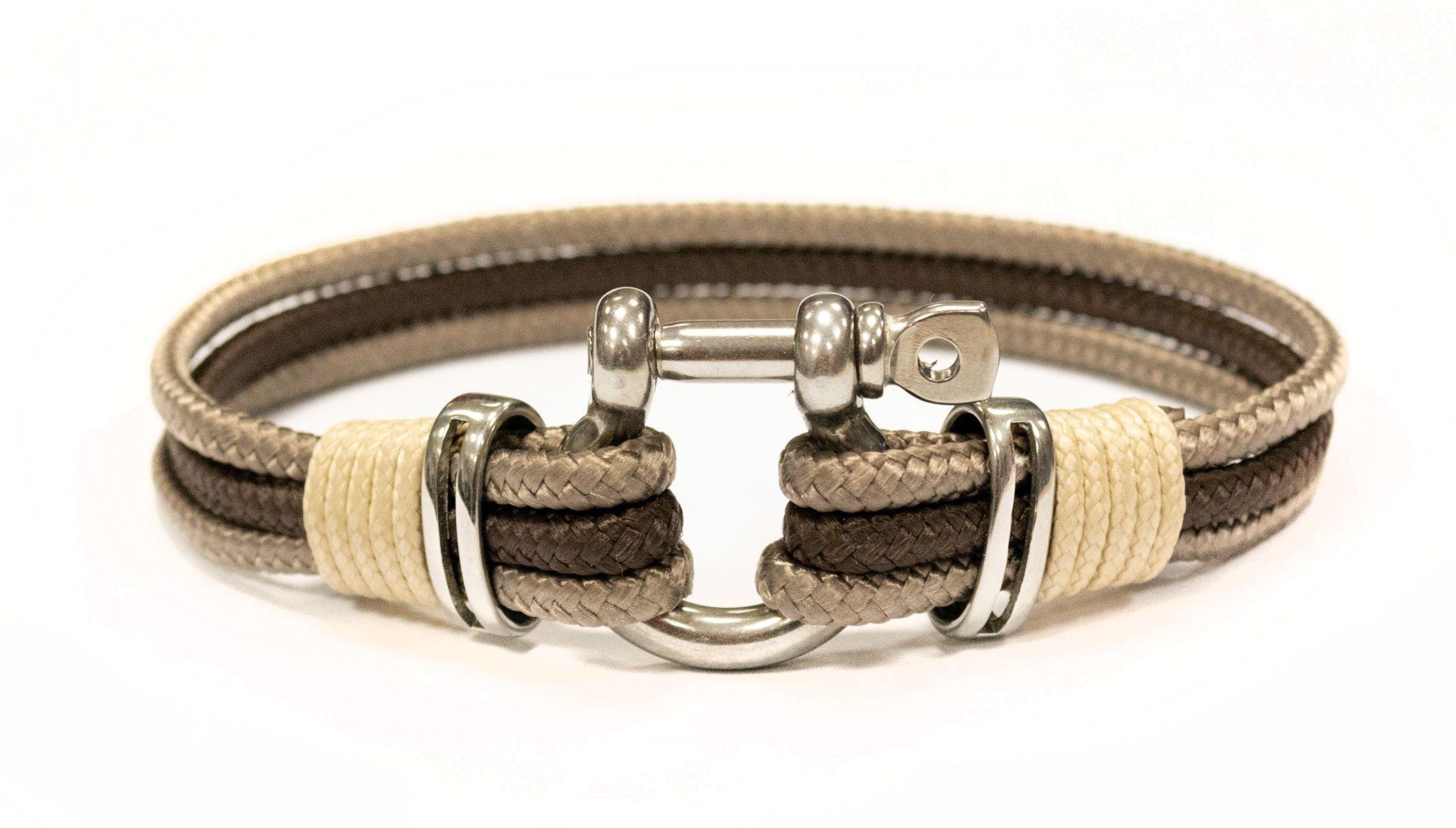 1003c2e59 Omega - Prémium vitorlás karkötő, barna, antik ezüst, bézs ...