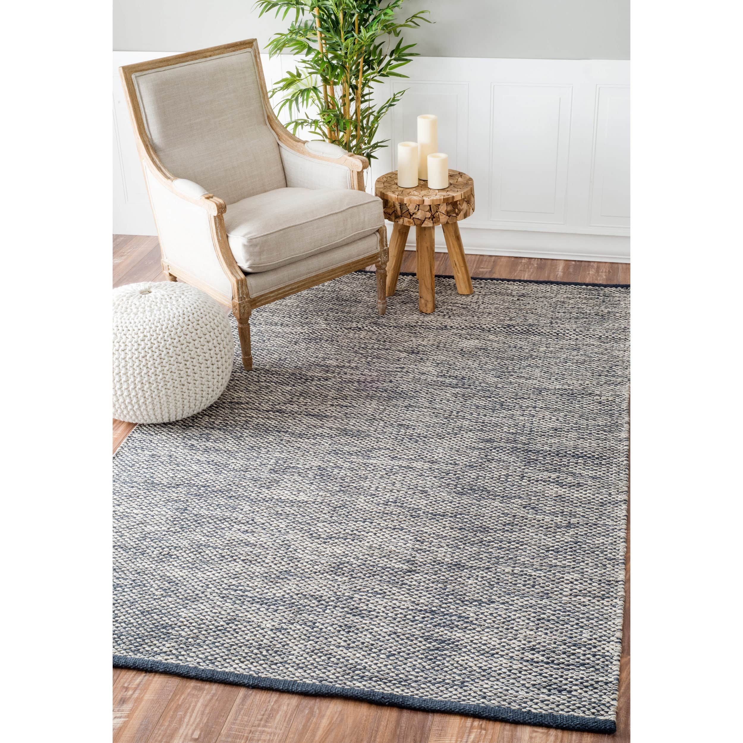 Nuloom Handmade Flatweave Contemporary Solid Cotton Grey Rug 7 6 X 9 6 Overstock Com Shopping The Best Deals On 7x9 10x14 Solid Rugs Rugs Usa Cool Rugs