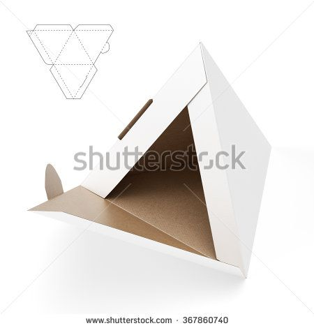 Small Pyramid Box with Die Cut Template | Packaging | Box