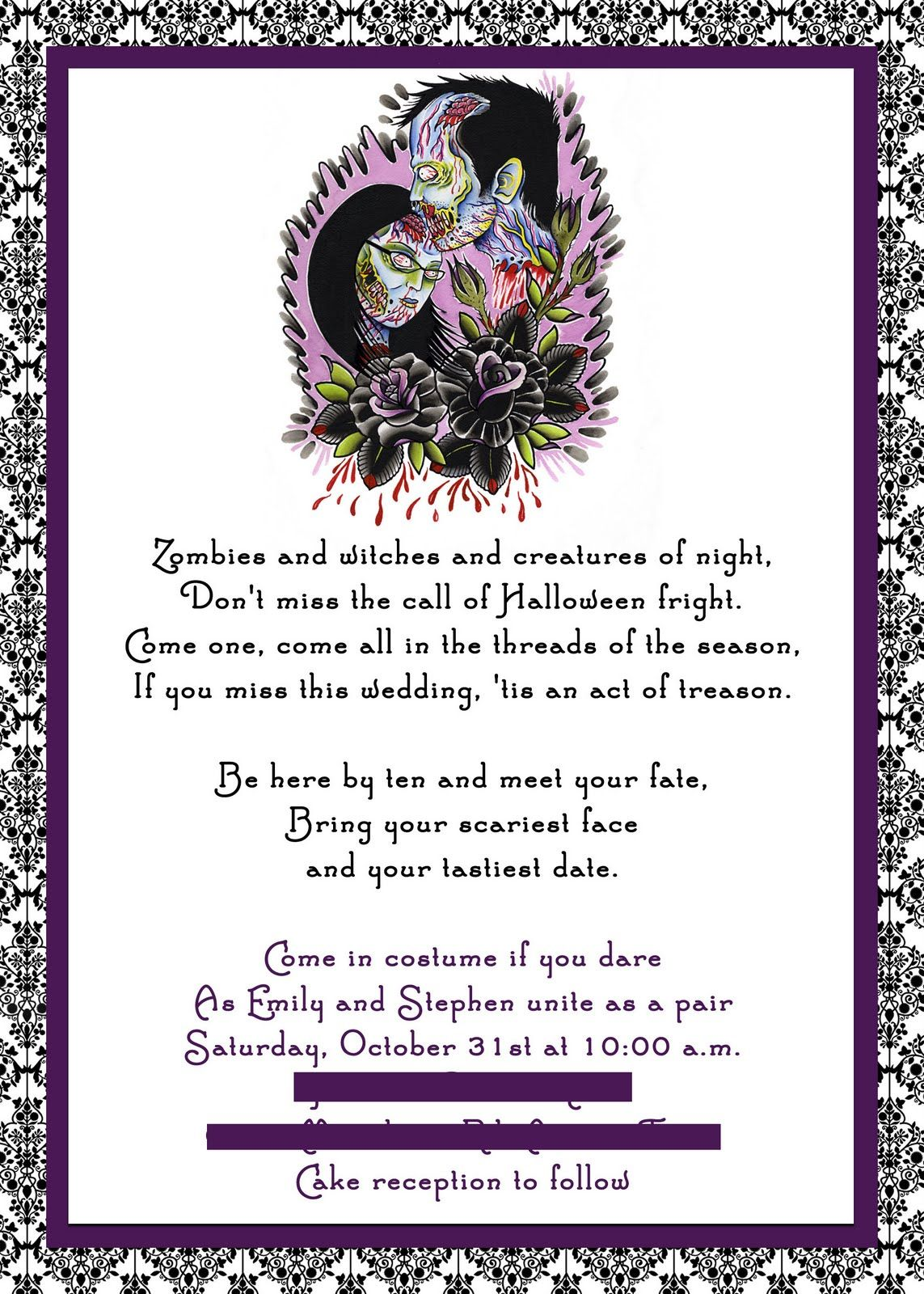 awesome Halloween Wedding Invitations Templates Check more at http ...