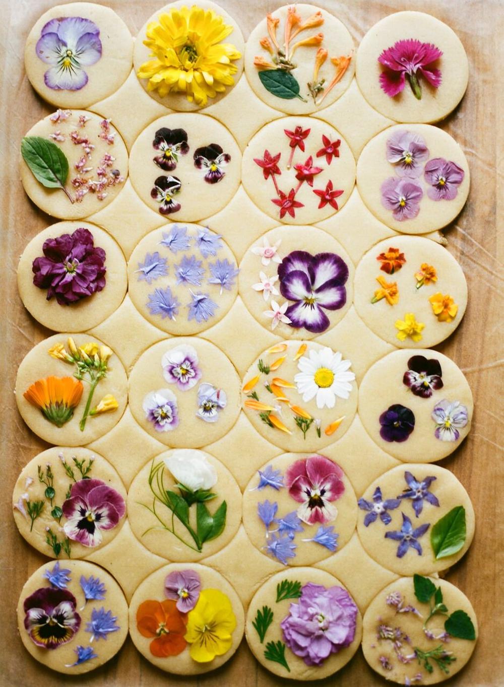 Original Flower Pressed Shortbread Cookies- 100% Organic
