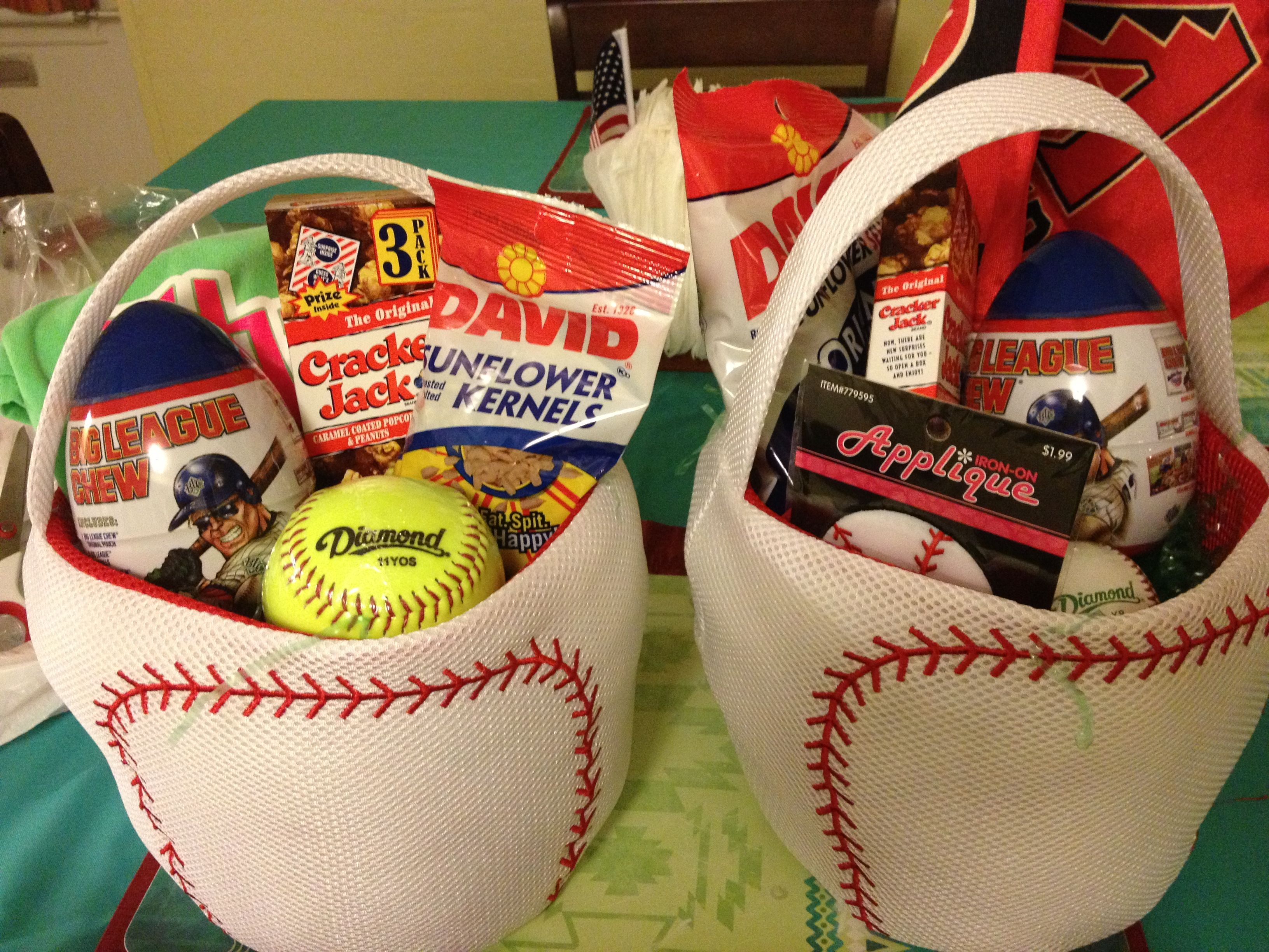 Baseballsoftball easter baskets baseballsoftball pinterest baseballsoftball easter baskets easter basket ideaseaster negle Image collections