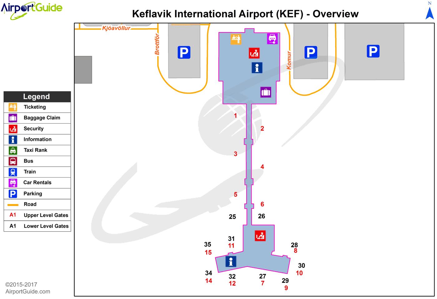 Keflavik Airport Map Reykjavík   Keflavik International (KEF) Airport Terminal Map
