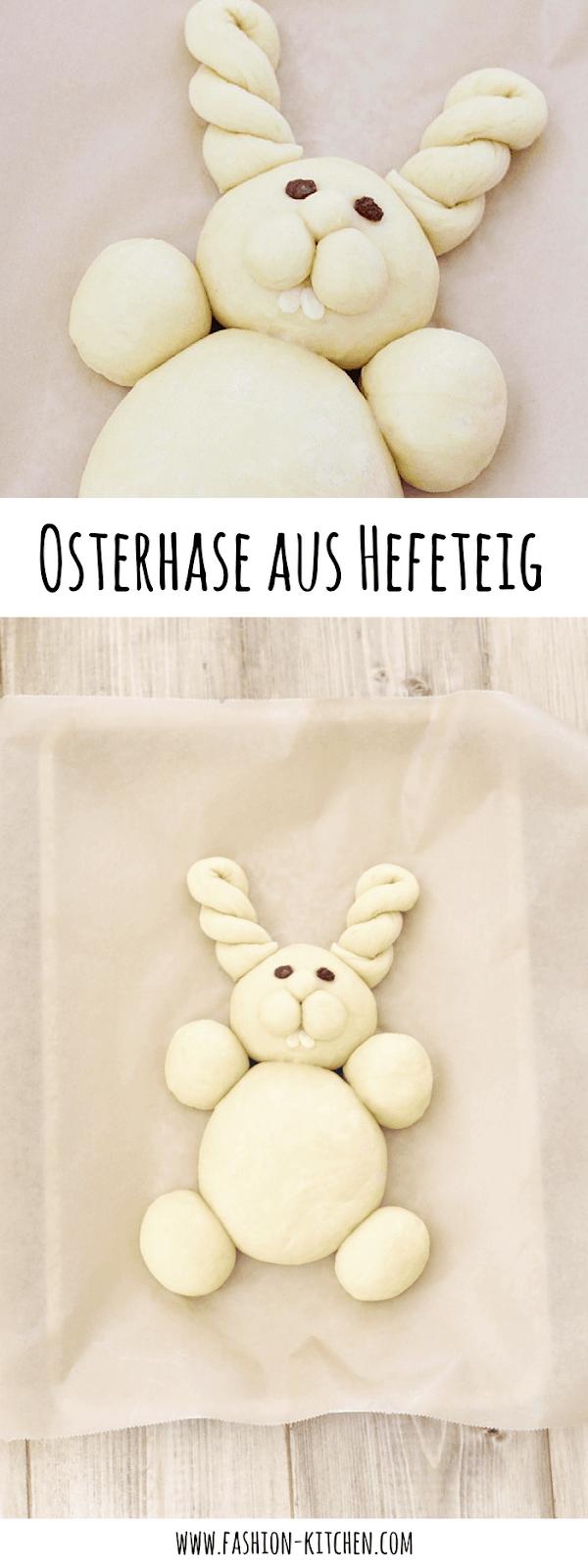 süßer Osterhase aus Hefeteig - Fashion Kitchen #pumpkinmuffins