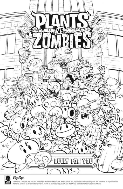 Free Online Plants Vs Zombies Coloring Page Plants Vs Zombies, Coloring  Books, Plant Zombie
