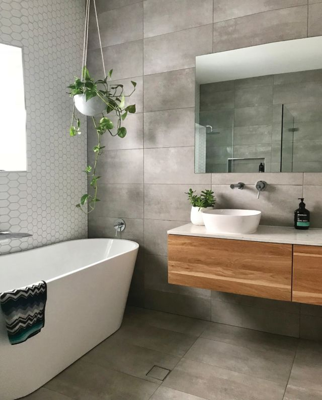 Light Grey Tiles Bathroom Renovation Cost House And Home Magazine Modern Bathroom Design